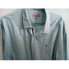 Camisa Manga Longa Estampada Masculino Verde Vr Man Original a5622a0ec65b3