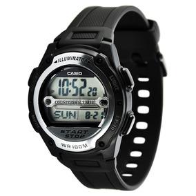 6e2e253579c15 Relógio Casio Masculino Wr 100m Bateria 10 Anos W-756-1avdf