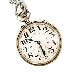 e376ba592d0 Antigo Relógio De Bolso Suíço Dito Regulador De Precisão