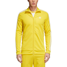 Campera adidas Bb Track Hombres- Originals Amarillo