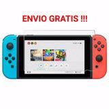 Envio Gratis Mica De Cristal Templado 9h Nintendo Switch