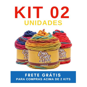 Fio Lã Cupcake Maxi Tie Dye 200g Círculo - Kit 02 Novelos