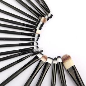 20pcs Pinceles De Maquillaje Profesional Mango De Madera Som