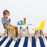 Mesa Eames De Niños + 2 Sillas - Colores A Eleccion