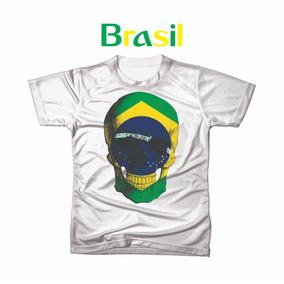 Camiseta Camisa Personalizada Copa Do Mundo Brasil Futebol