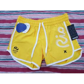 Short Jeans Hurley Cut Off Feminino Cinza - Original C  Nf!! 4 vendidos -  São Paulo · Short Brasil Olimpíada Hurley - Amarelo Feminina 772cb05e57e