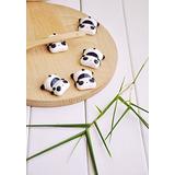 Wowlife 6 Pcs Kawaii Cartoon Animals Pattern Chopsticks Spoo