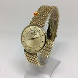 57c3a9ce5e2 Relógio Feminino Dourado Com Pedras Luxo Cor Aço E Chocolate