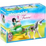Playmobil Fairies - Hada Con Unicornio Y Carro Super Liqui!!