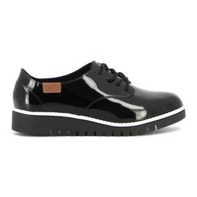 Zapato Casual De Mujer Acharolado C/cordones Beira Rio
