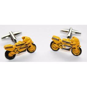 Mancuernillas Moto Motocicleta Pista Amarilla, Traje, Camisa
