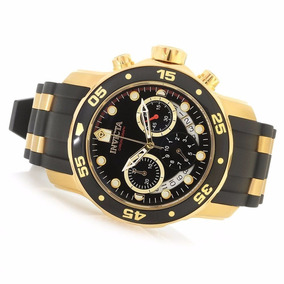 Relógio Invicta Masculino Pro Diver 6981 Original Ouro 18k+n