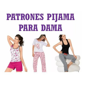 Patrones Pijamas Corta Larga Pantalon Short Blusa Dama 2x1