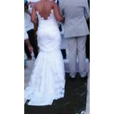 Lindo Vestido Todo Em Renda De Noiva 2 Em 1