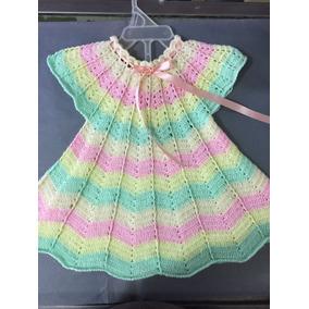 Vestido Bebé Tejido En Crochet