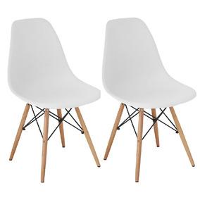 Cadeira Charles Eames Wood Design Kit 02pc Nf + Garantia Dsw