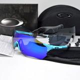 Óculos Oakley Evzero Azul - Ciclismo Speed Corrida Leve 22g cc2d7562ec