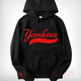 Sudadera Yankees New York Beisbol Capucha Cangurera