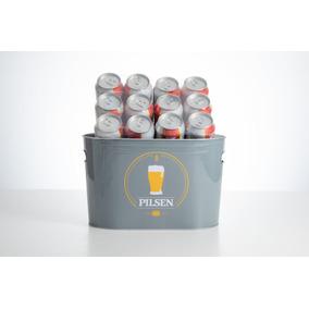 Cerveza Pilsen Lata 354 Cc X 12 + Balde