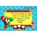 Tarjeta Invitacion Mario Bros Modelo 3