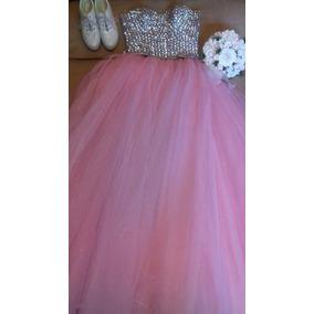Vestido De Xv Rosa Baby Vestidos De Xv Largos En Mercado