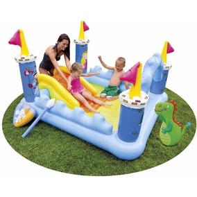 Piscina inflavel playground brinquedos e hobbies no for Piscina inflavel arco iris intex playground com escorregador