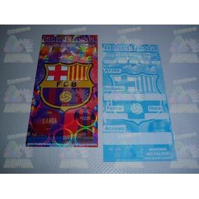 Invitaciones Platos Vasos Dulceros Fiesta Futbol Barcelona 07808b05203