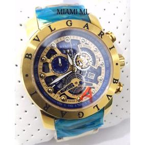 ff5b1e8545b Relógio Bulgari Iron Mem Dourado - Joias e Relógios no Mercado Livre ...
