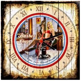 2cbe5f34fa2 Relógio Vintage King Mdf 27x27 Barber Shop Cloqbc.0118. R  29 98
