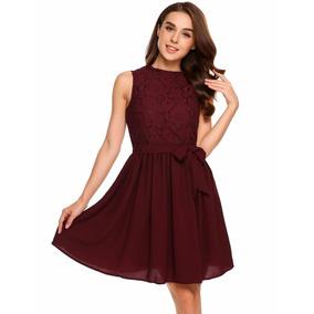 Imagenes de vestidos cortos color vino