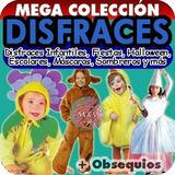 Mega Colección Disfraces Infantiles Revistas Patrones Moldes