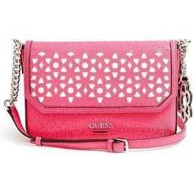 Guess Sp503521 Bianco Nero Flap Crossbody Pink