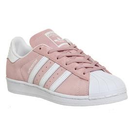 superstar adidas mujer rosas