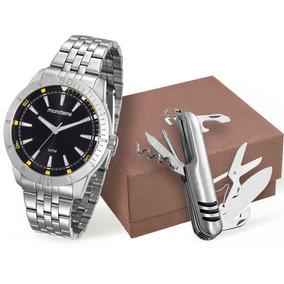 Kit Relógio Mondaine Masculino 99144g0mvne1k1+ Canivete Mult