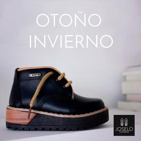 Botas Nena Acordonada Botas Mujer Zapato Otoño Invierno