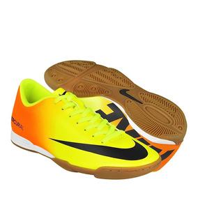 Tenis Nike 573874708 Simipiel Amarillo Naranja