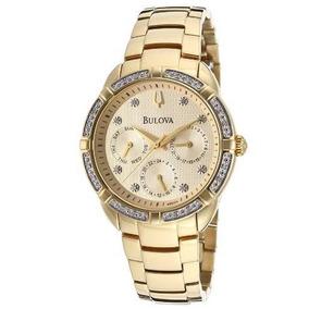 d54632dafc4 Relogio Bulova Feminino Diamond Modelo 96r56 18 Diamantes - Relógio ...