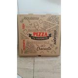 Caja Para Pizza De 28 X 28 Cm. Marron Impresa Generica