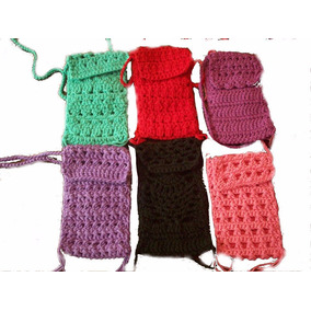 Carterita Para Celular Tejida En Crochet-por Encargo