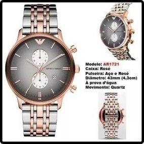 Relogio Gem42646 Emporio Armani 1721 Silver Rose+caixamanual 68357b2d2e