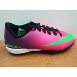 Tenis Nike Mercurial Vortex Tf Morado / Rosa Jr
