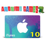 Itunes Apple Gift Card Original Código Valor 10 Usd Usa