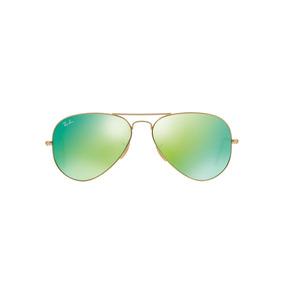 Lentes Ray-ban Rb3025 112/19 Aviador Dorado/verde Unisex