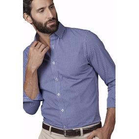 Camisa Hombre Christian Dior Casual Microcuadro Algodon 100%