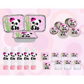 Kit Festa Infantil Panda Menina Rosa 40 Peças