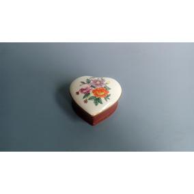 C-02 Antiga Caixinha/porta Joia Em Porcelana Pintado A Mão