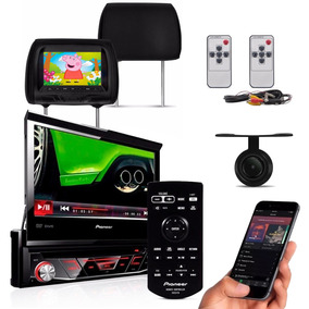 Dvd Automotivo Pioneer Retratil Bluetooth Camera + Encostos