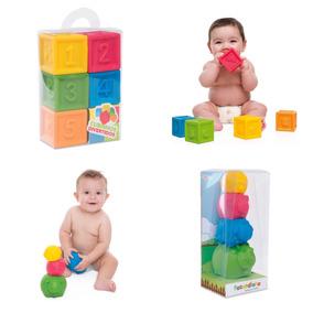 Kit Mordedor Para Bebês Fazendinha E Cubinhos 3m + Brinde