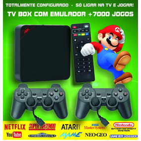 Retro Tv Box - Emulador Video Game Jogos Antigos +64gb