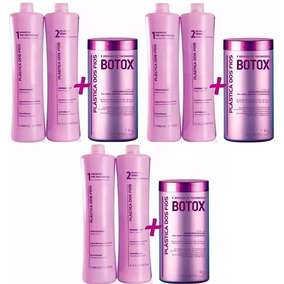 3 Combo Progressiva Plástica Dos Fios Selagem + Botox +frete